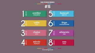 #16  - ФРАНЦУЗСКИЙ ЯЗЫК - 500 основных слов. Изучаем французский язык самостоятельно