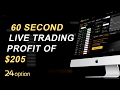 Binary Options- Live 5 Minute Trading