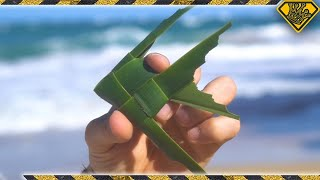 "How To Make a ""Fish On A Stick"" Toy (Cool Palm Leaf Craft)"
