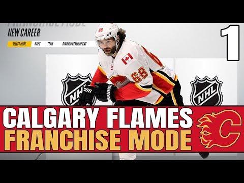 ROSTER OVERVIEW + OLD MAN JAGR SCORING | NHL 18 Calgary Flames GM / Franchise Mode Episode 1