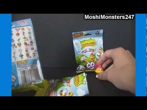 Opening 3 Moshi Monsters Moshlings Blind 2-Packs (epic pulls!)