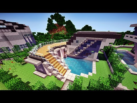 Minecraft hd maison moderne n 1 2 2 youtube for Style de maison moderne