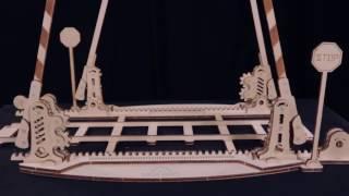Обзор 3D-пазл UGears локомотива с перроном