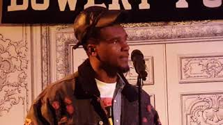 Bowery Poetry Holiday party 12-17-17 Joel Francois and Noel Quiniones