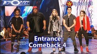 Zhavia Saeed Candice Boyd & Ash Minor Entrance & as Comeback contestants The Four S01E05 Ep 5
