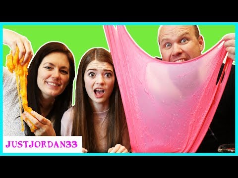 Mom vs Dad SLIME CHALLENGE / JustJordan33