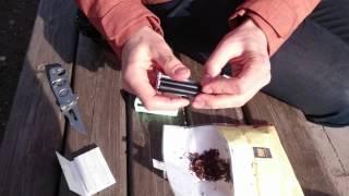 Как закрутить сигарету,  самокрутку из табака
