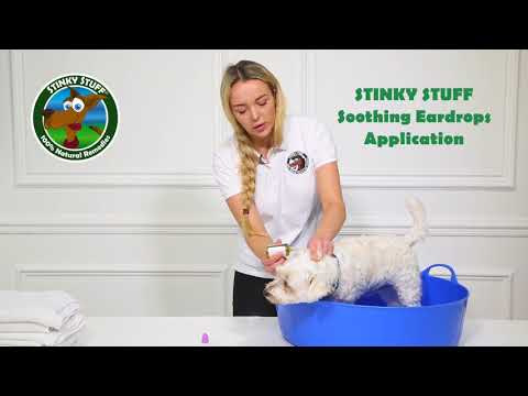 How To Use Stinky Stuff Soothing Ear Drops by Olivia & Peggy