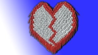 How To Make The Heart Valentine 3d Origami (modular Origami) For Beginners