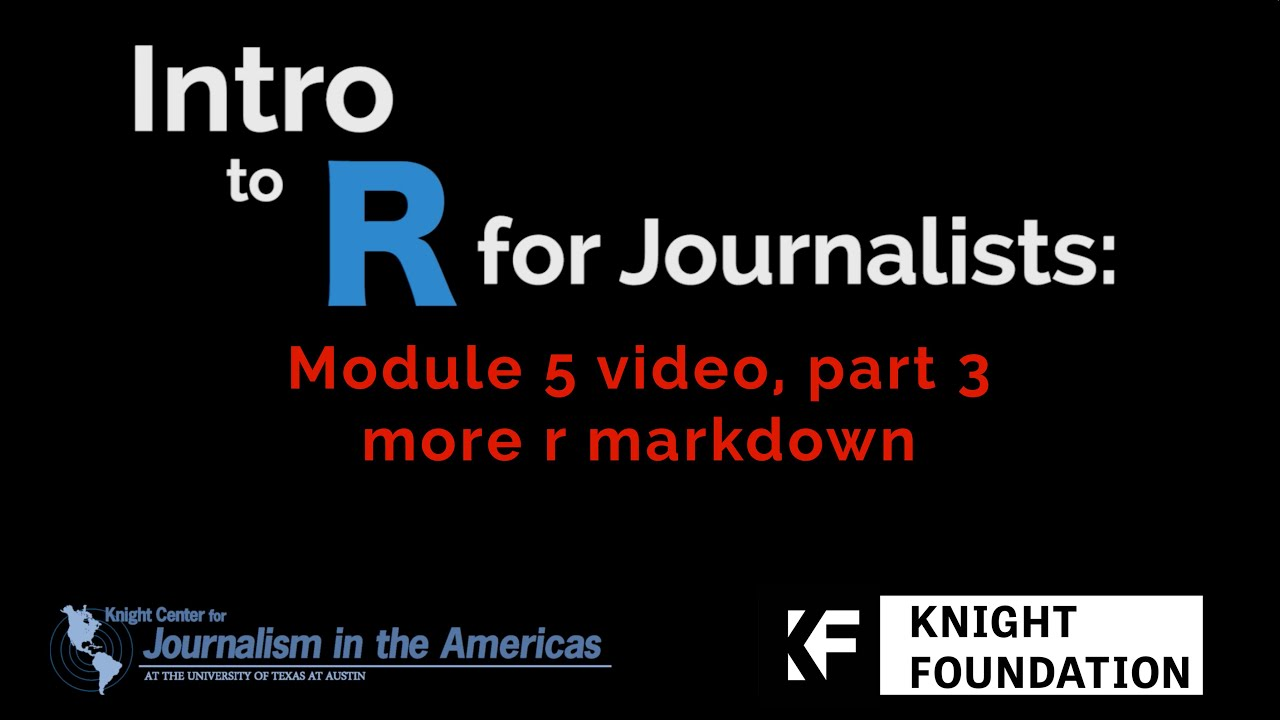 More R Markdown :: Journalism with R