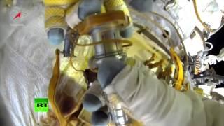 ISS : le film de la sortie extravéhiculaire de deux cosmonautes russes