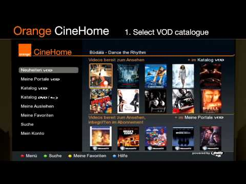 orange cinehome ott vod tv service youtube. Black Bedroom Furniture Sets. Home Design Ideas