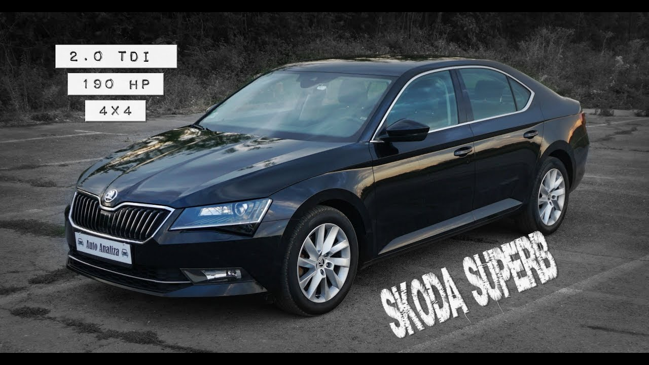 mini review 2016 skoda superb 2 0 tdi 190hp 4x4 [ 1280 x 720 Pixel ]