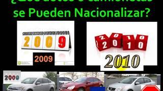 ¿Qué autos se pueden Nacionalizar a partir de Noviembre de 2017?