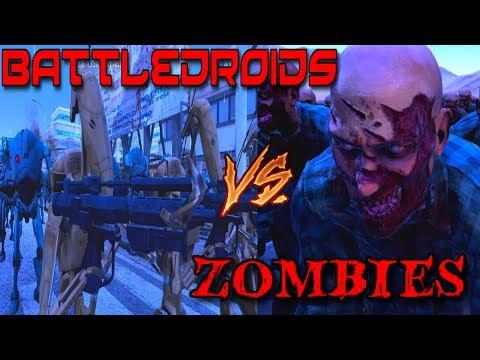 4,000 Zombies vs 1,000 B1 & 250 B2 Battledroids - UNDEAD MASSACRE!