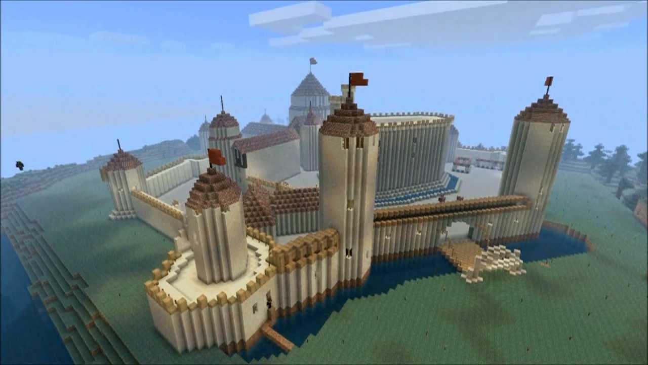Minecraft architectika timelapse chateau du moyen ge doovi - Chateau de minecraft ...