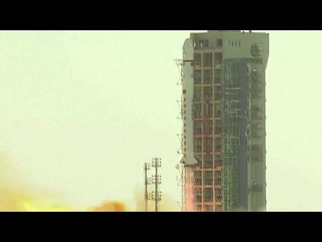 Long March-2D launches land exploration satellite (LKW-2)