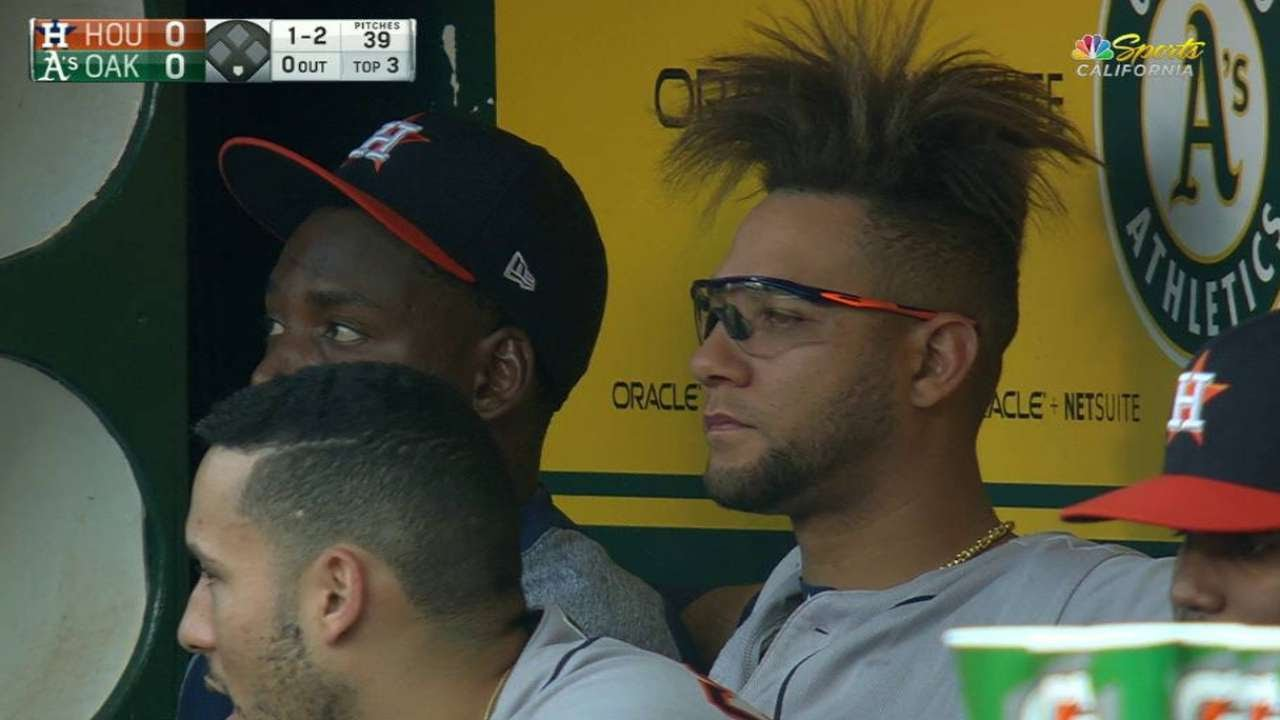 HOU@OAK Athletics\u0027 broadcast shows Gurriel\u0027s haircut