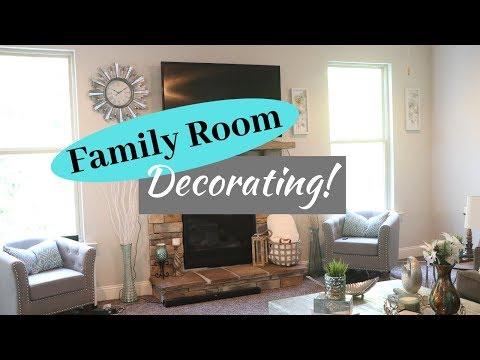 New Decor Family Room Decorating Youtube