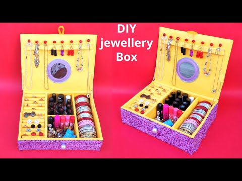 DIY: Bangle Box making at Home with waste Cardboard box| Best out of waste | Easy Jewellery box