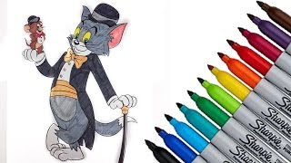 Tom and Jerry Cartoon Network Coloring page 2017 New HD Video for Kids