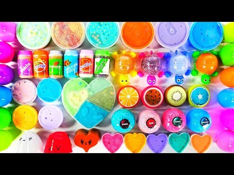 HOW TO MAKE A GIANT MIX OF SLIMES 💕 Very Satisfying and Relaxing Videos