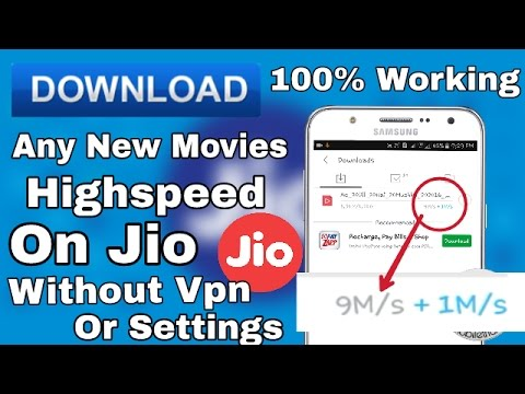 [Jio]Download New Movies With Full Speed Upto 9mbps On Jio Sim No Vpn Or  Setting!