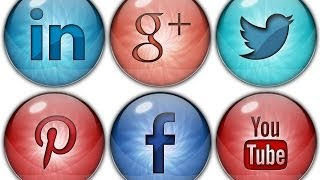 How to make Social Media Buttons or Icons - Photoshop Tutorial