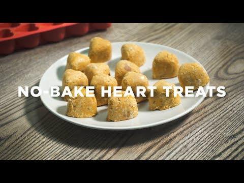Delicious Peanut Butter, Sweet Potato & Oats Homemade Dog Treats: No-Bake DIY Heart Treats Recipe