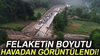 Bursa'daki Heyelan Havadan Görüntülendi