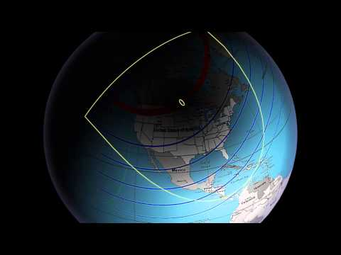 February 26, 1979 Eclipse of the Sun over USA (animated)