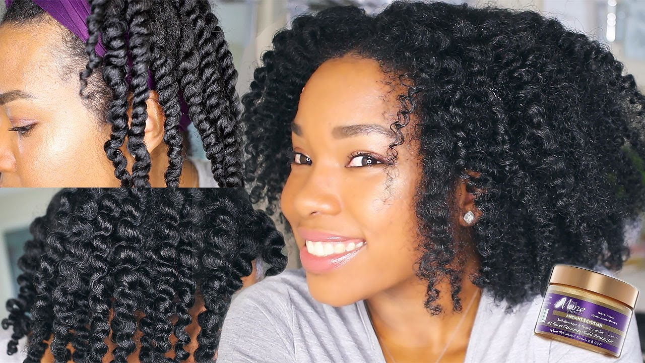 Hair Style 0 5: TWISTOUT Using THE MANE CHOICE Ancient Egyptian 24K Gold