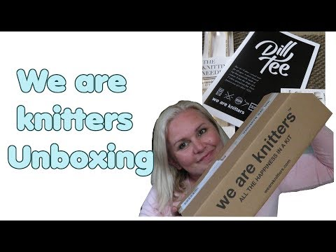 We Are Knitters Unboxing!! Ich Packe Mit Euch Aus.... WAK Dill Tee