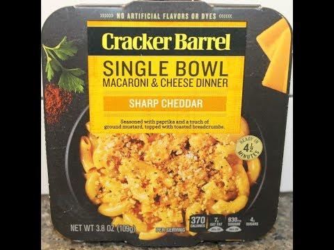 Cracker Barrel Single Bowl Macaroni & Cheese Dinner: Sharp Cheddar Review