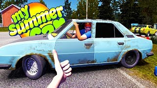 MY NEW SUMMER RIVAL! NEW CAR AND RALLY GUY? - My Summer Car Gameplay Highlights Ep 78
