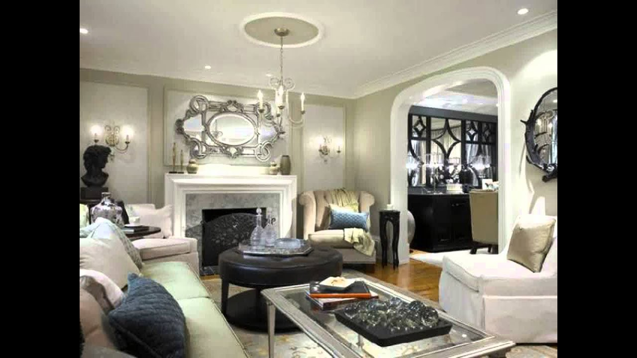 living room ideas grey feature wall - youtube