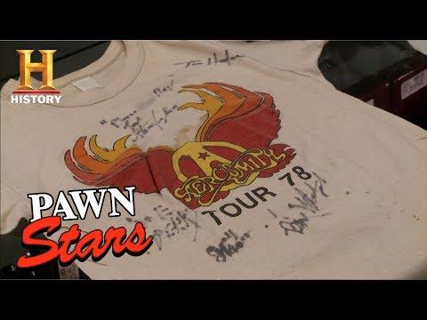 Pawn Stars: Aerosmith Concert T-shirts | History