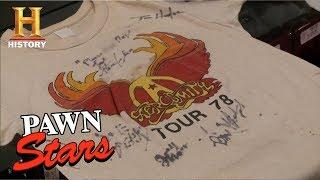 Pawn Stars: Aerosmith Concert T-shirts   History