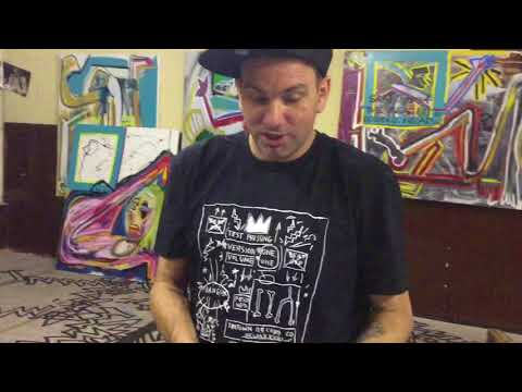 Al Diaz cofounder of  SAMO©…with Jean-Michel Basquiat Visits the Studio