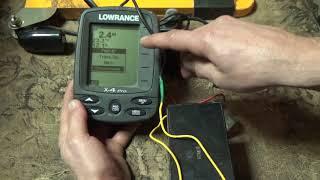 настройка эхолота lovrange X-4 pro для ловли на квок