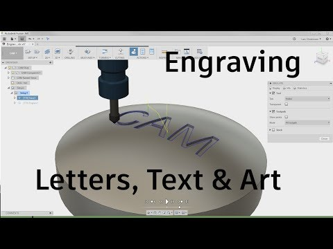 Fusion 360 CAM — Engraving Letters Text & Art — #LarsLive 86