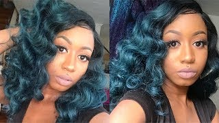 TEAL HOLLYWOOD WAVES! | ZURY HOLLYWOOD ELBA WIG REVIEW