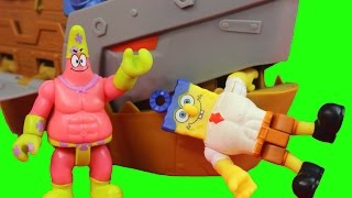 Imaginext Spongebob Squarepants Sponge Out Of Water Plank-Ton Patrick Shark Boat