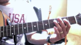 Myo Gyi guitar solo tutorial (အၿပာေရာင္ခ်စ္ည) a pyar young chit nya