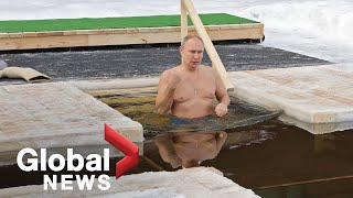 Russia's Putin takes traditional Epiphany dip in icy waters