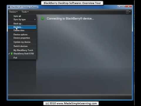 blackberry bold 9000 software desktop manager free