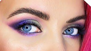 Яркий цветной макияж для начинающих Макияж для голубых глаз Инстаграмный макияж глаз