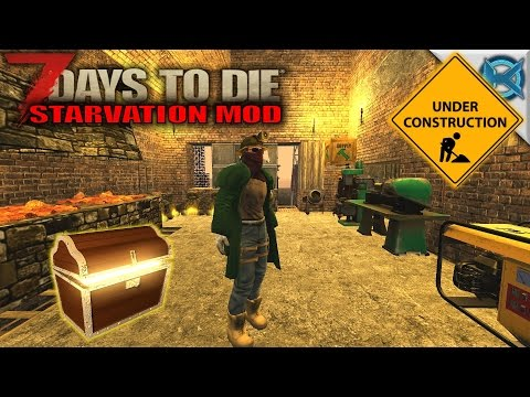 7 Days to Die Mod | Treasure Trader & Work Room | SP Let's Play Starvation Mod Gameplay | S01E34