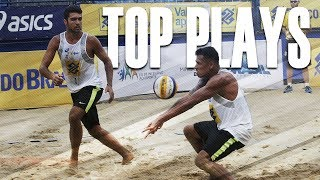 CBV Fortaleza 2018 • TOP MENS PLAYS #1 • Beach Volleyball World