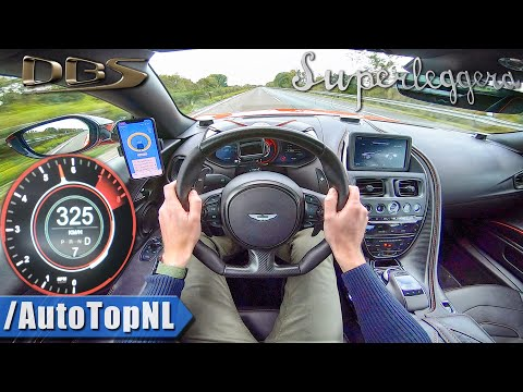 ASTON MARTIN DBS Superleggera 725HP V12 | AUTOBAHN POV 325km/h (NO Speed Limit) by AutoTopNL